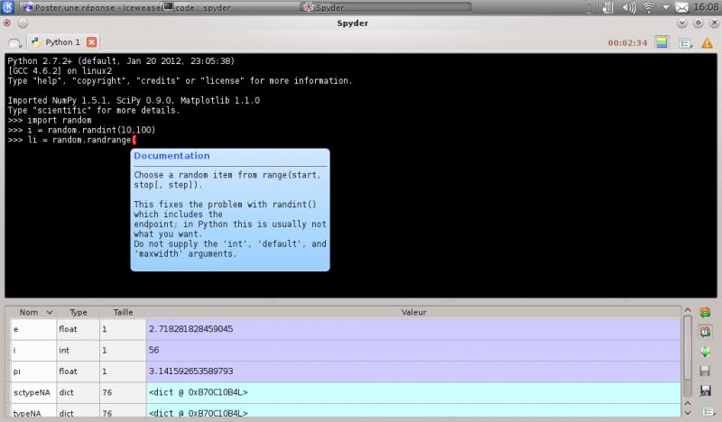 [Python]Spyder, le super éditeur de code, et aide au debug 234448spyder2