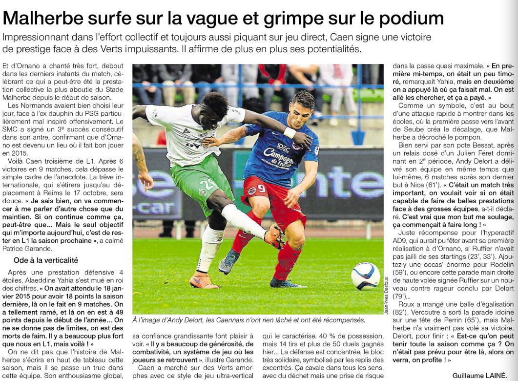 [9e journée de L1] SM Caen 1-0 AS Saint Etienne - Page 2 246503Ste