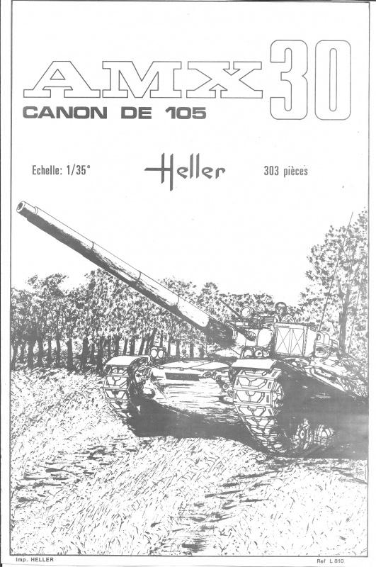 AMX 30 canon de 105 1/35ème Réf L 810 250958HellerAMX30105810001
