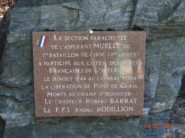 Chocs parachutés , libération Pont de Claix , Grenoble Août 1944 279332DSC01223min