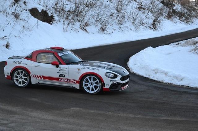 Premier test concluant en course pour l'Abarth 124 rally au 85ème Rallye de Monte-Carlo 280569170105AbarthMontecarlo02