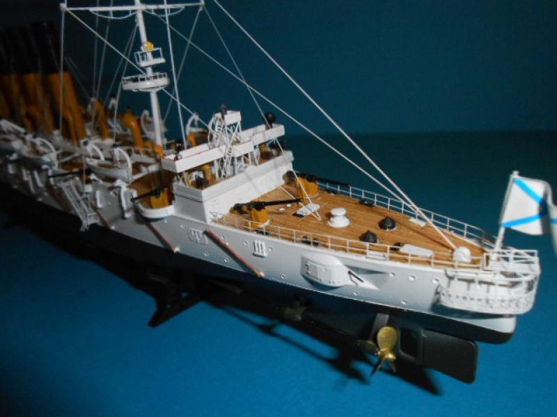 """Croiseur Russe """"VARYAG"""" 1/350 PE + Pont en bois de chez Zvezda 287325Croiseur015"""