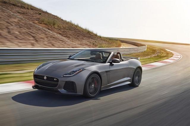 Nouvelle Jaguar F-TYPE SVR : La Supercar Capable D'atteindre 322 km/h Par Tous Les Temps 292151JAGUARFTYPESVR27CONVERTIBLETrackLowRes