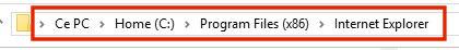 Raccourcis Internet Explorer 307506435