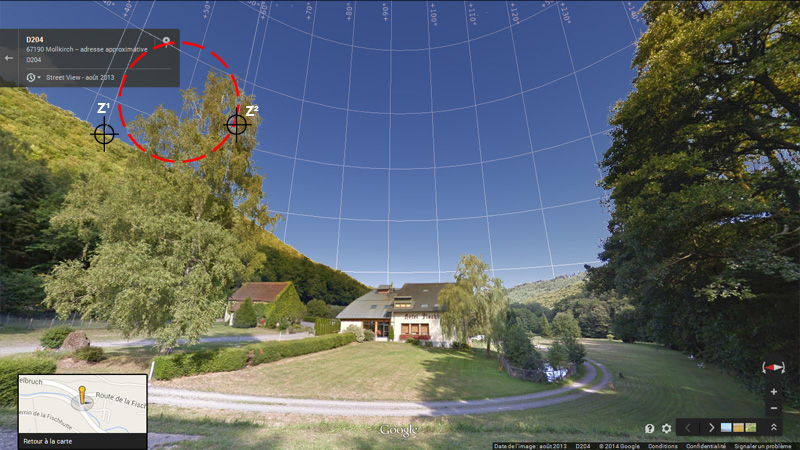 1976: le 20/07 à 21H30 22H -sphère lumineuse - Lieu dit Fackenthal (67)  - Page 3 3082803bFischhutteStreetViewIIIzoneviseurs