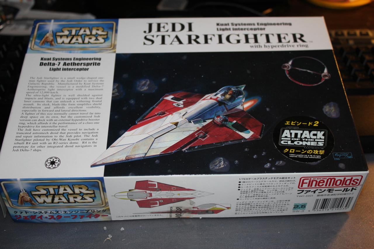 Star Wars [Jedi StarFigther avec son Anneau Hyperdrive] FineMolds 1:72 310362DPP0001