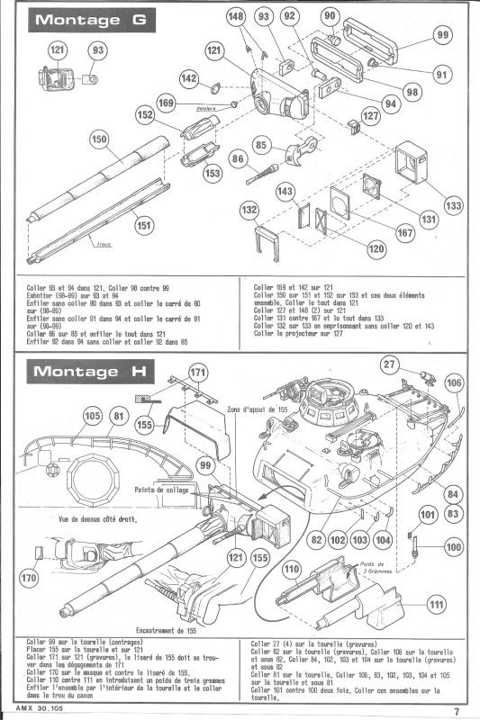 AMX 30 canon de 105 1/35ème Réf L 810 315801HellerAMX30105810007