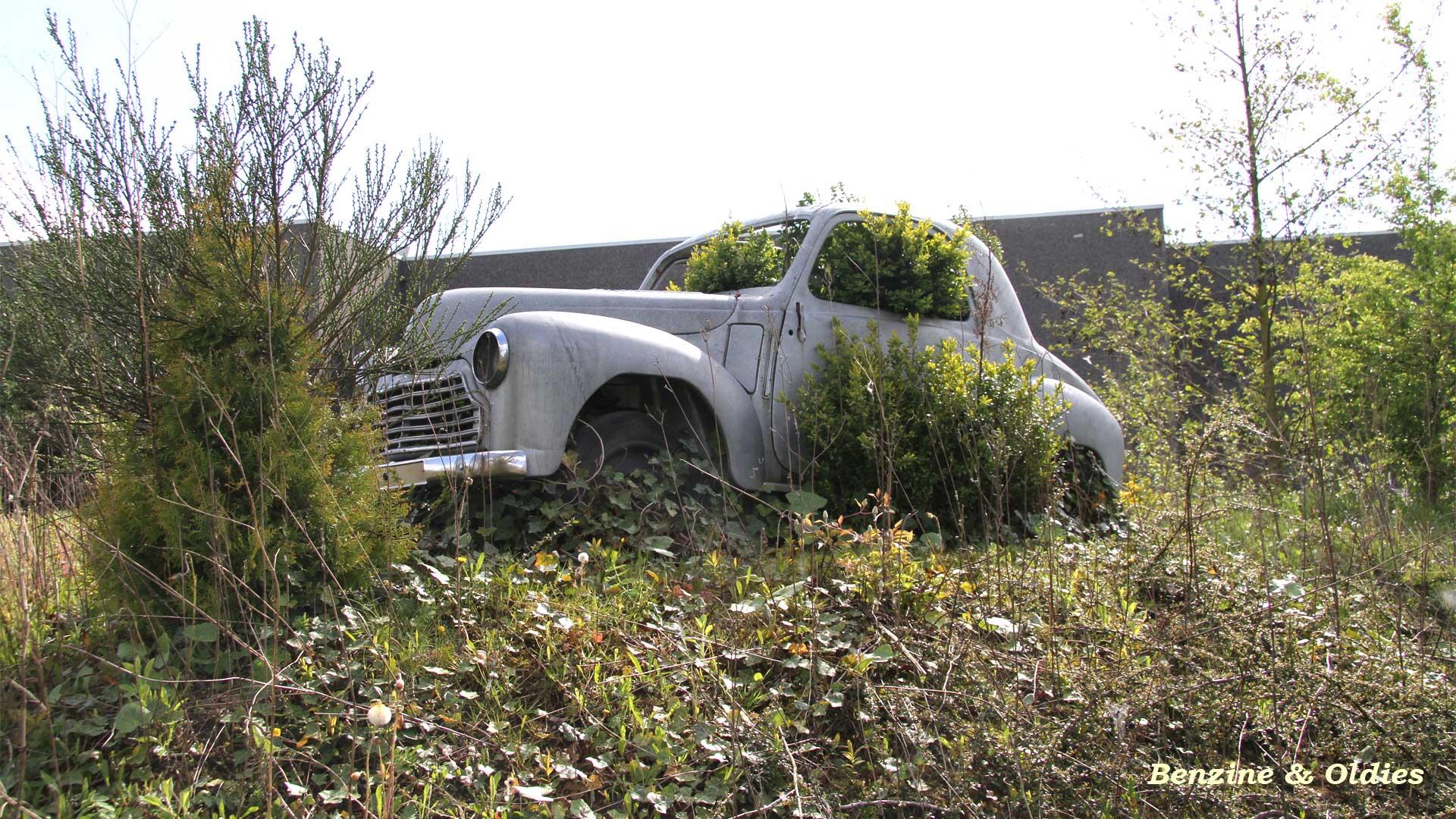 une Simca 6 carrosserie aluminium oubliée dans la nature - Simca6 316328simca6street28w19201080