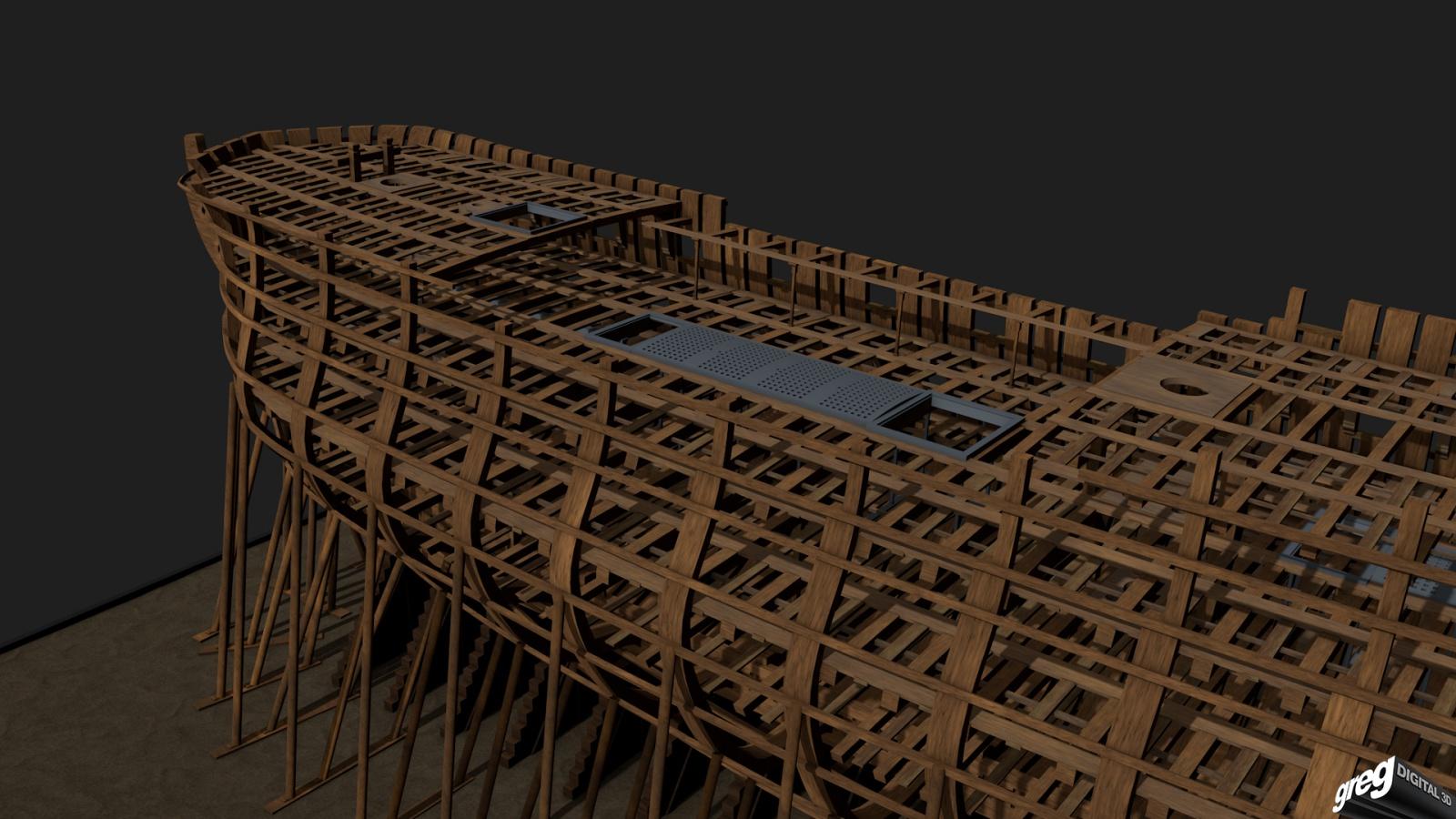 Vaisseau 74 canons Lucide (Création 3D) de Greg_3D - Page 3 317237Squelettecaillebotis
