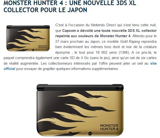 3DS collector Monster Hunter 4 3178463ds01