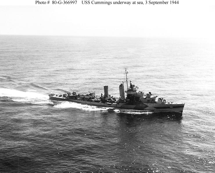 USN DESTROYERS CLASSE MAHAN 326618USSCummings1944
