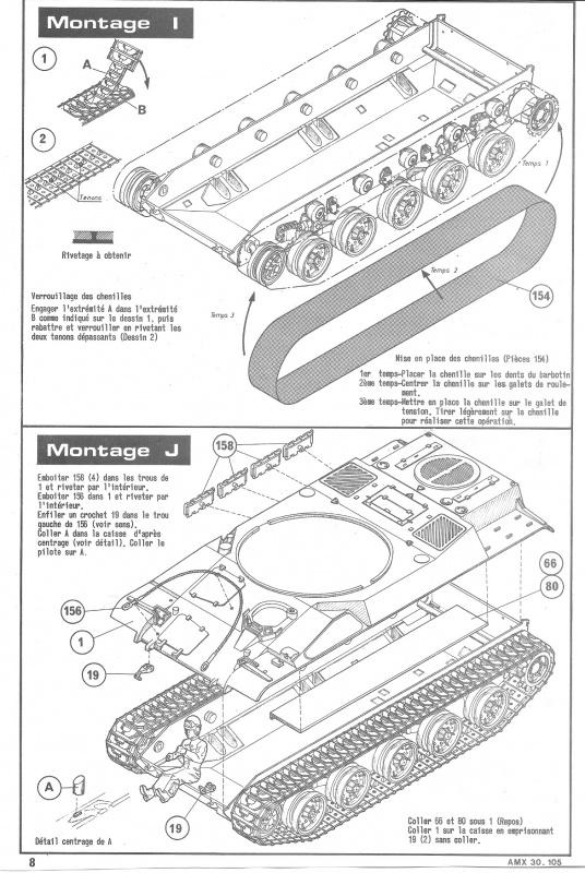 AMX 30 canon de 105 1/35ème Réf L 810 331627HellerAMX30105810008