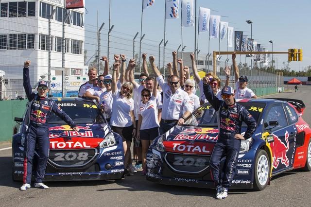 Les PEUGEOT 208 WRX Vice-Championne du Monde FIA de Rallycross 334490REN9267
