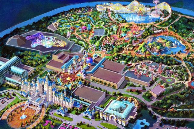 (Chine) Fushun DreamWorld Theme park, Hotel & Resort (201?) 340251fdw1