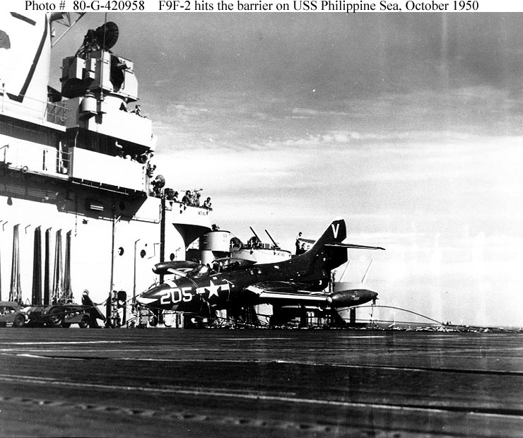 GRUMMAN F9F PANTHER  343623USS_Phillipine_Sea_Panther_accident