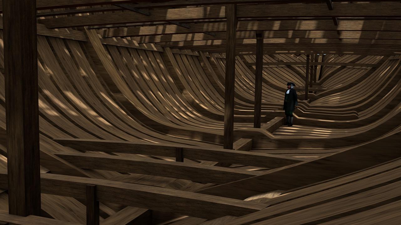 Vaisseau 74 canons Lucide (Création 3D) de Greg_3D - Page 5 349672Squelettecale