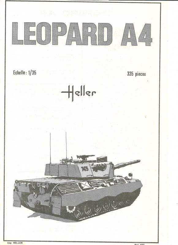 Char LEOPARD A4 1/35ème Réf 823 353957HellerLopardA4823001