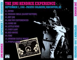Vancouver (Pacific Coliseum) : 7 septembre 1968 36644119680907R