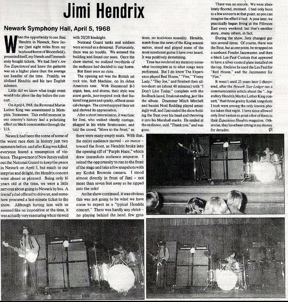 Newark (Symphony Hall) : 5 avril 1968  366846press