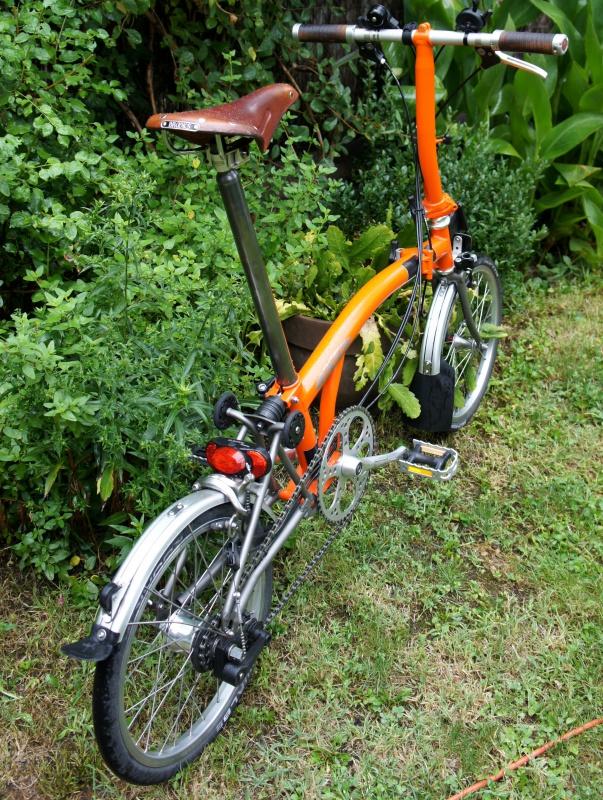 VENDS Brompton S6LX titane orange plus options 1280 EUROS [vendu] 369937brompton016