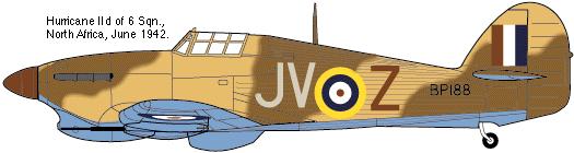 Hawker Hurricane Mk IId Trop 6 Sqn 1942 Hobbycraft 1/48.... Terminé! 371342922b2