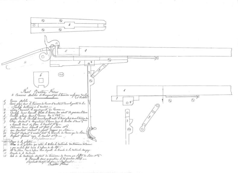Indentitfication Fusil poudre noire ancien 375445bastinfreresbrevet00239502
