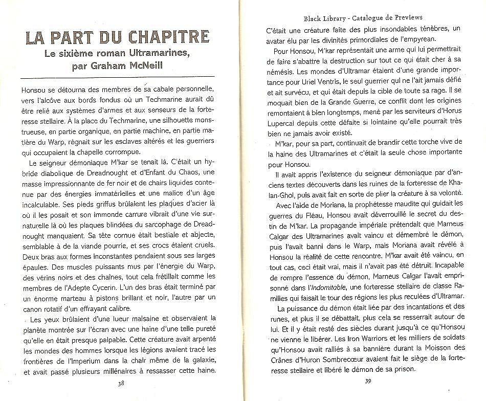 La Part du Chapitre (Uriel Ventris Tome 6) - Page 2 383153Lapart1