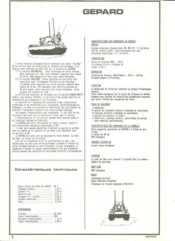 Char GEPARD  1/35ème Réf 820 384022HellerGpard820002