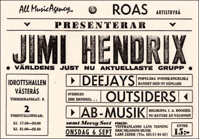 Västeras (Idrottshall) : 6 septembre 1967 [Premier concert] 3894640609578