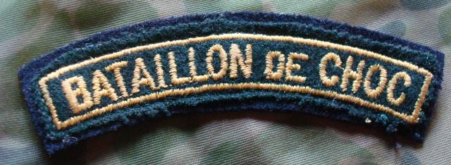 LES INSIGNES DU BATAILLON DE CHOC 1943/1963. 390483DSC08308