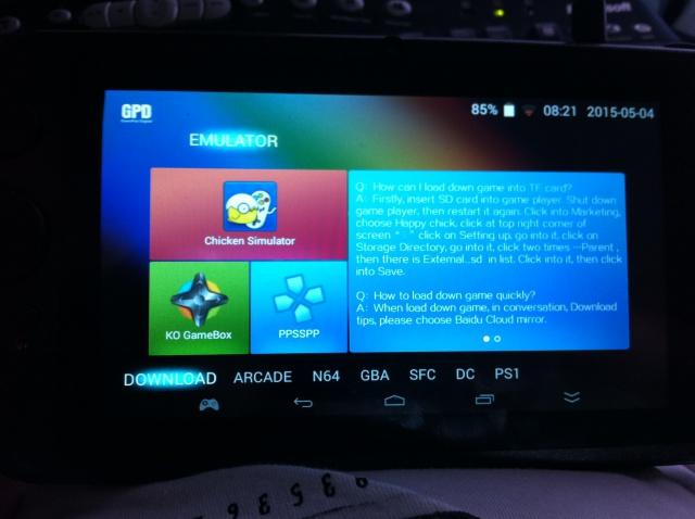Vidéo test joystick config sur GPD Q9 398345IMG2404