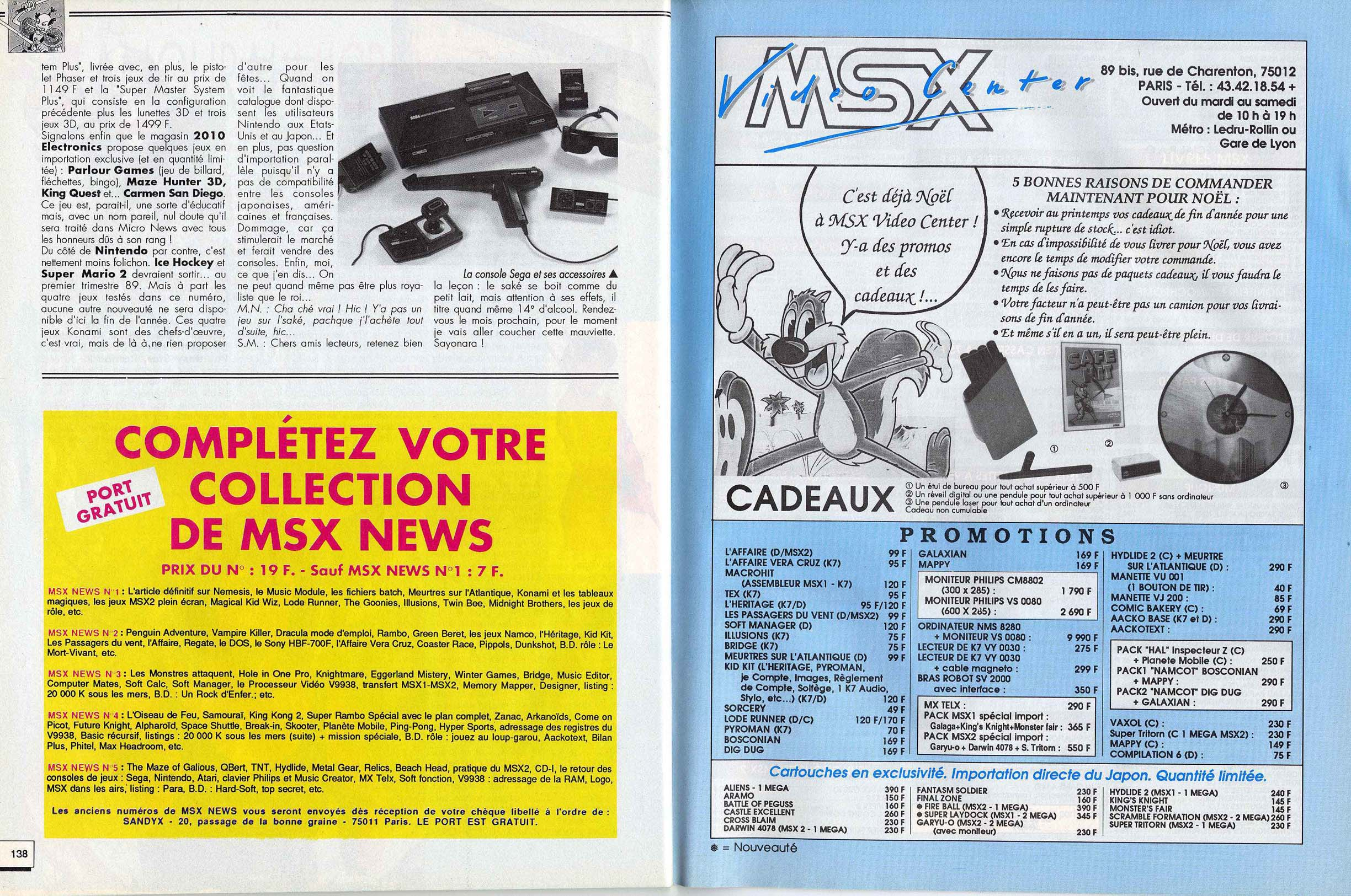 Tentative liste Line Up France Sega Master System printemps 87. - Page 3 399643micronewsn15novembre1988page138etpage139