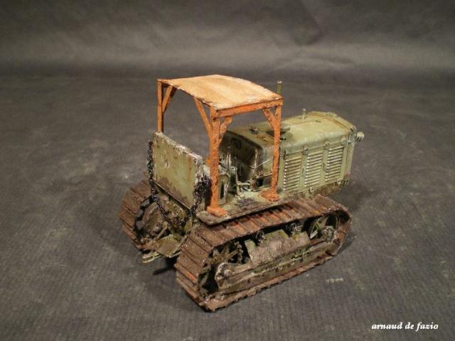 tracteur d artillerie soviétique chtz s-65 version allemande 1/35 trumpeter,tirant 2 blitz de la boue 410545IMGP1858
