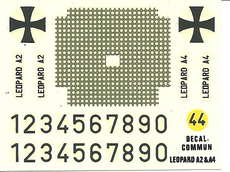 Char LEOPARD A4 1/35ème Réf 823 417582HellerLopardA4823013