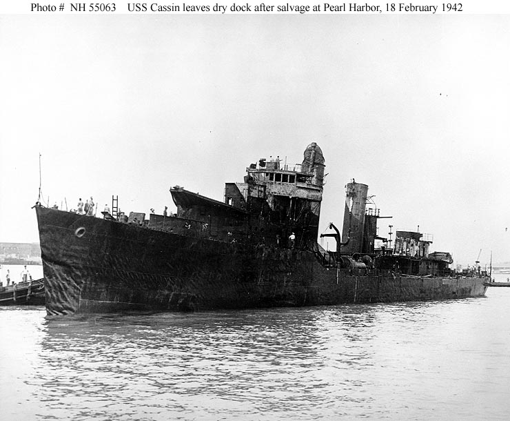 USN DESTROYERS CLASSE MAHAN 431666USSCassin18021942