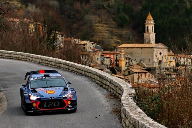 Rallye Monte Carlo Une Victoire En Power Stage pour Consoler Hyundai Motorsport  43703415182017montecarlorm059
