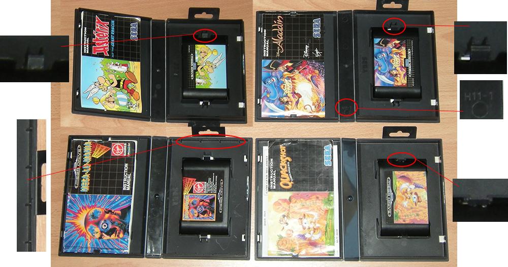 Les differents boitiers de jeux Megadrive 437476sega4variantesBoitesNoires