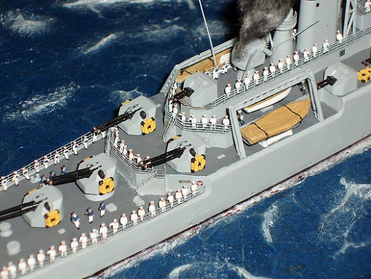 Le Croiseur COLBERT, Heller 1/400 +photodecoupe + resine 437734s14
