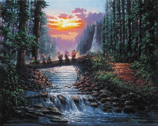 [Collection] Disney Fine Art de Collectors Editions (artworks) 441698Forest20Bridge2024x30