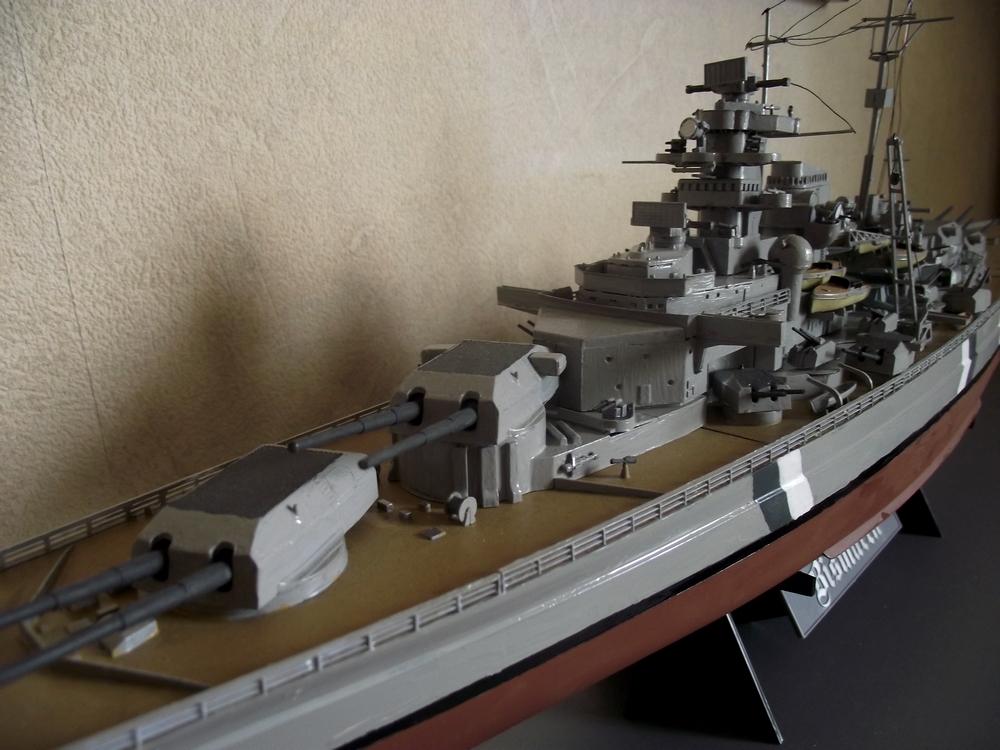 Bismarck au 1/350 Tamiya  443201MaquetteBismarck1x3504