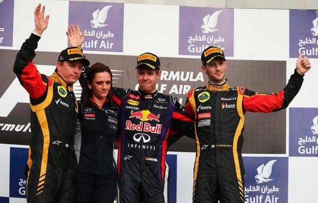 F1 GP de Bahreïn 2013 : Victoire Sebastian Vettel 4564282013RikknenVettelGrosjean