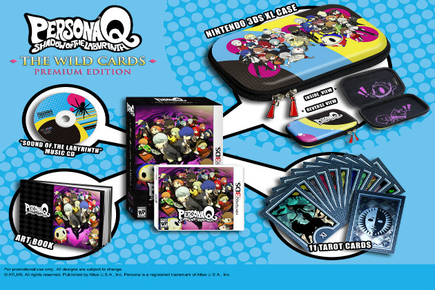 Persona Q: Shadow of the Labyrinth: The Wild Cards Premium Edition  457075PersonaQShadowoftheLabyrinthAtlus