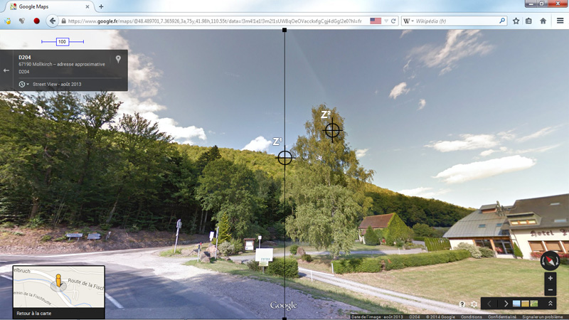 1976: le 20/07 à 21H30 22H -sphère lumineuse - Lieu dit Fackenthal (67)  - Page 3 4593713dFischhutteStreetViewIIIzonecentrageZviseur