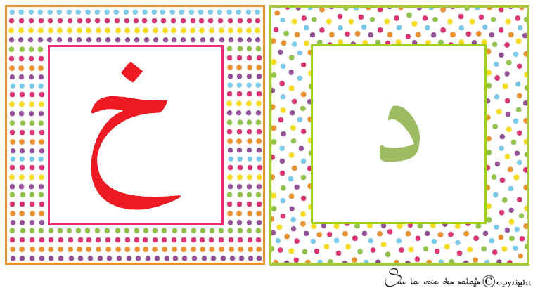 carte d'alphabet Arabe 4603524khoadl