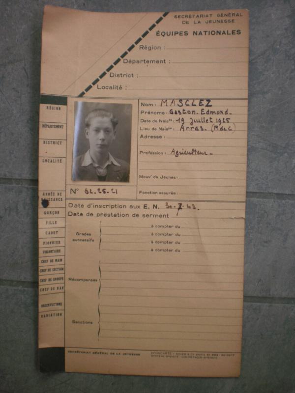 Les Equipes Nationales du Régime de Vichy 461947P5212078