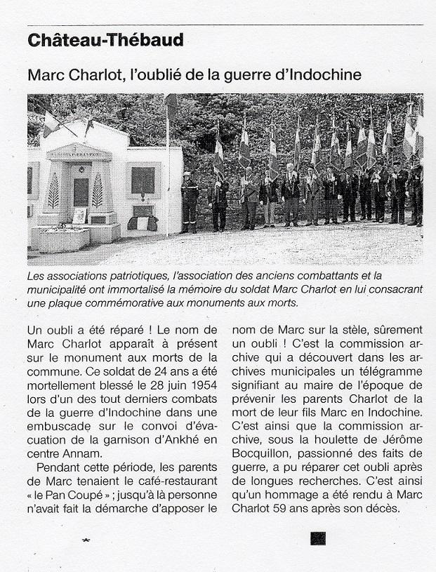 Soldat Marc CHARLOT MPLF le 28 Juin 1954 Régiment de Corée/GM100 471725img570