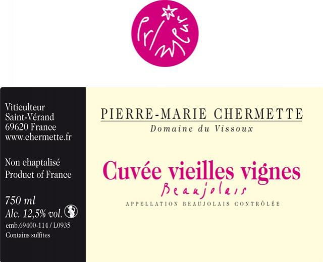 Partage du Domaine du Vissoux Beaujolais Cuvée Traditionnelle 2011 492804beaujolaisprimeurcuveevieillesvignes