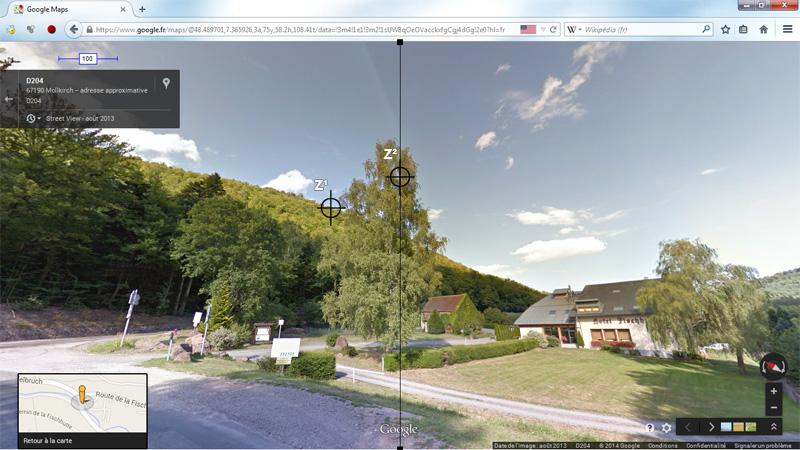 1976: le 20/07 à 21H30 22H -sphère lumineuse - Lieu dit Fackenthal (67)  - Page 3 4964413cFischhutteStreetViewIIIzonecentrageZviseur