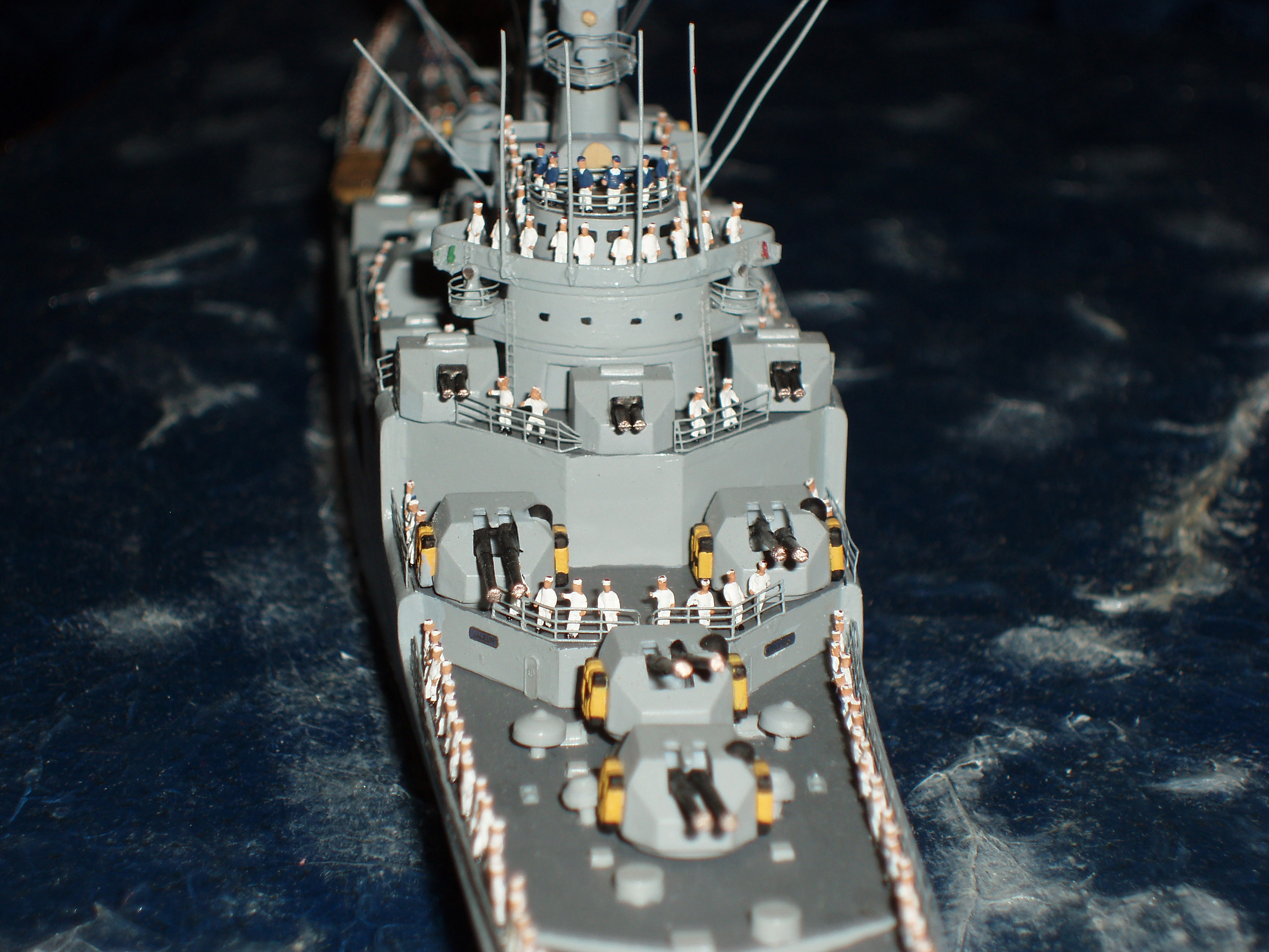 Le Croiseur COLBERT, Heller 1/400 +photodecoupe + resine 497043s17
