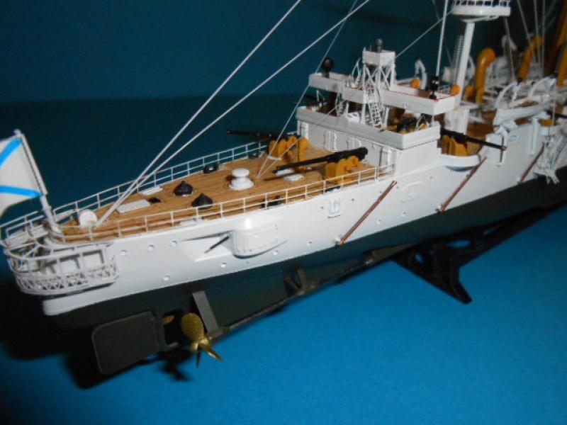 """Croiseur Russe """"VARYAG"""" 1/350 PE + Pont en bois de chez Zvezda 504875Croiseur014"""